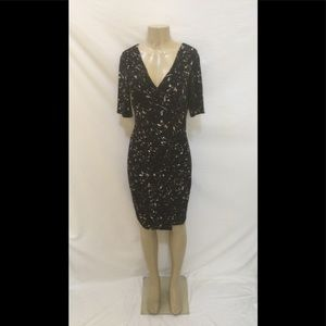 Lauren Ralph Lauren Size 8 Navy Blue Sheath Dress